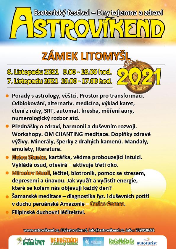 Plakát: Litomyšl 6. a 7. listopadu 2021
