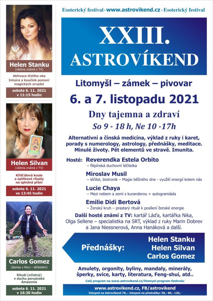 XXIII. Astrovíkend Litomyšl – zámek – pivovar, 6. a 7. listopadu 2021