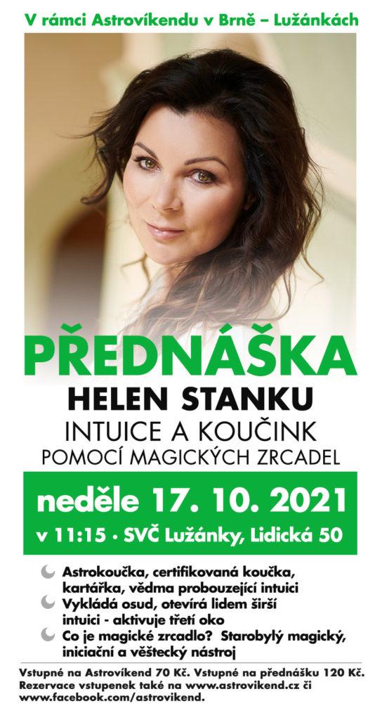 Helen Stanku: Intuice a koučink pomocí magických zrcadel (17. 10. 2021 v 11:15, SVČ Lužánky, Lidická 50, Brno)