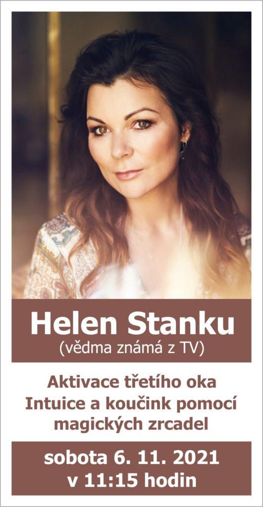 Helen Stanku (vědma známá z TV): Aktivace třetího oka, Intuice a koučink pomocí magických zrcadel, 6. 11. 2021 v 11:15